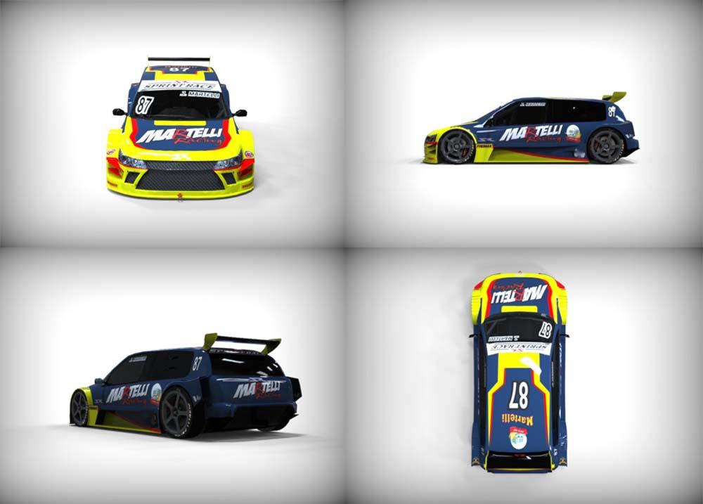 Carro de Jorge Martelli terá novo layout na Sprint Race