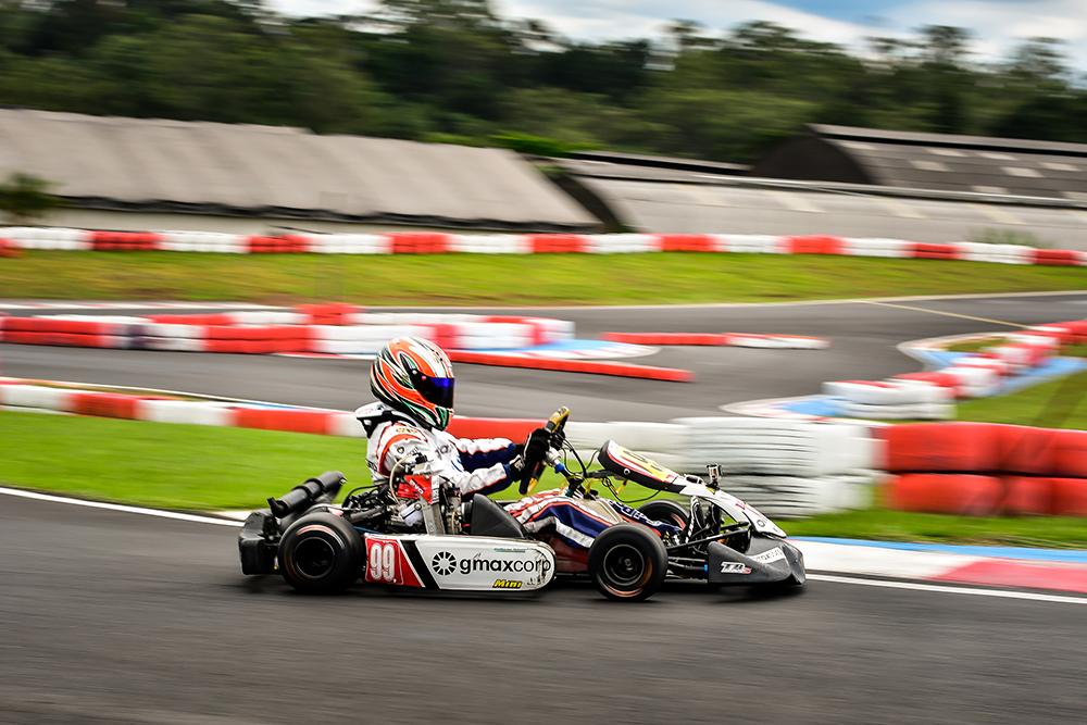Guilherme Peixoto abriu corrida por vaga no Mundial de Rotax com 3º lugar na Granja Viana
