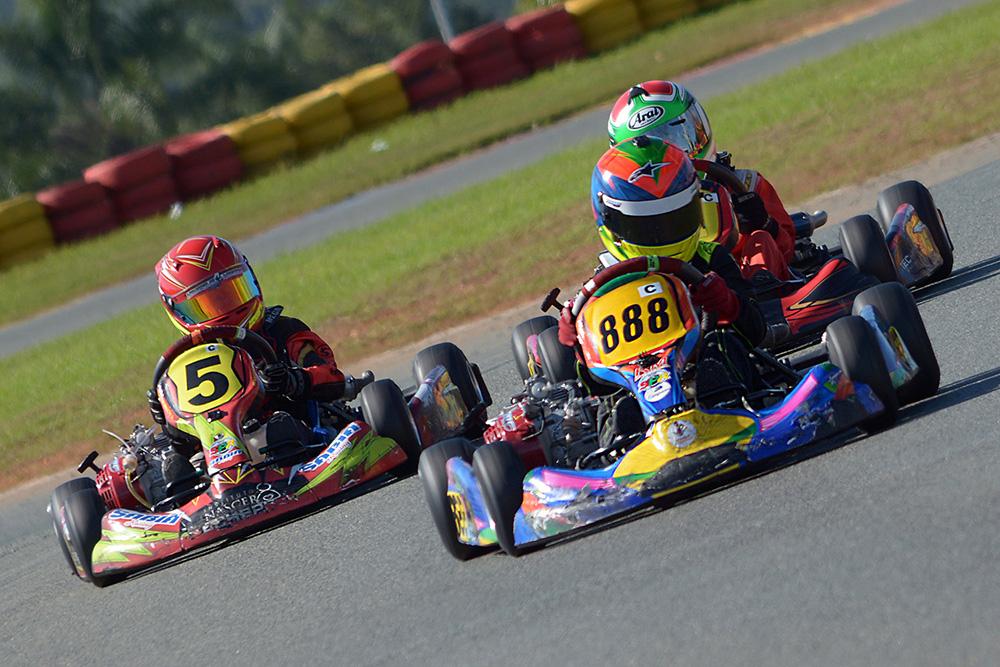 Luca Neuenschwander acelerou forte e foi ao pódio da Copa SPR de Kart