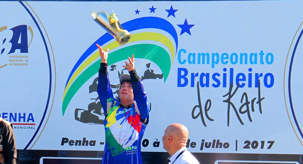 João Renato Corbellini ganha recurso e confirmado Campeão Brasileiro de Kart na categoria Novatos