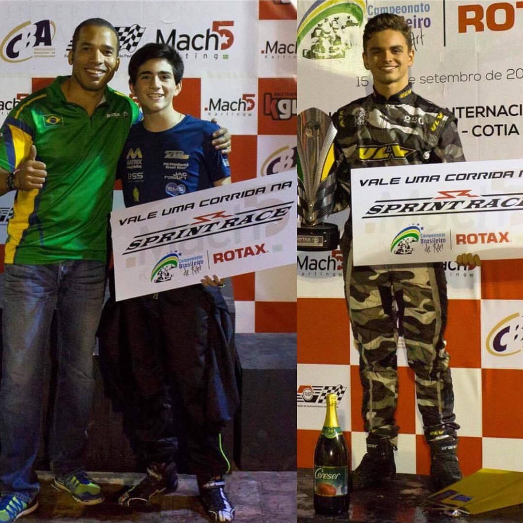 Ruan Belizário e Guilherme Peixoto recebem prêmio para competir na Sprint Race
