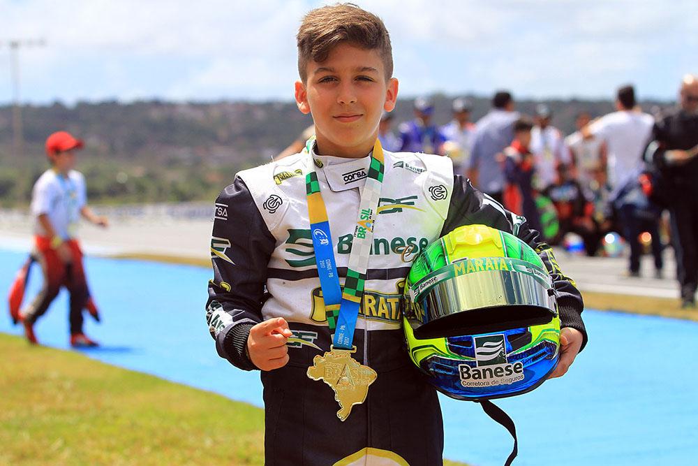 Guilherme Figueiredo foi um dos grandes destaques da Copa Brasil de Kart