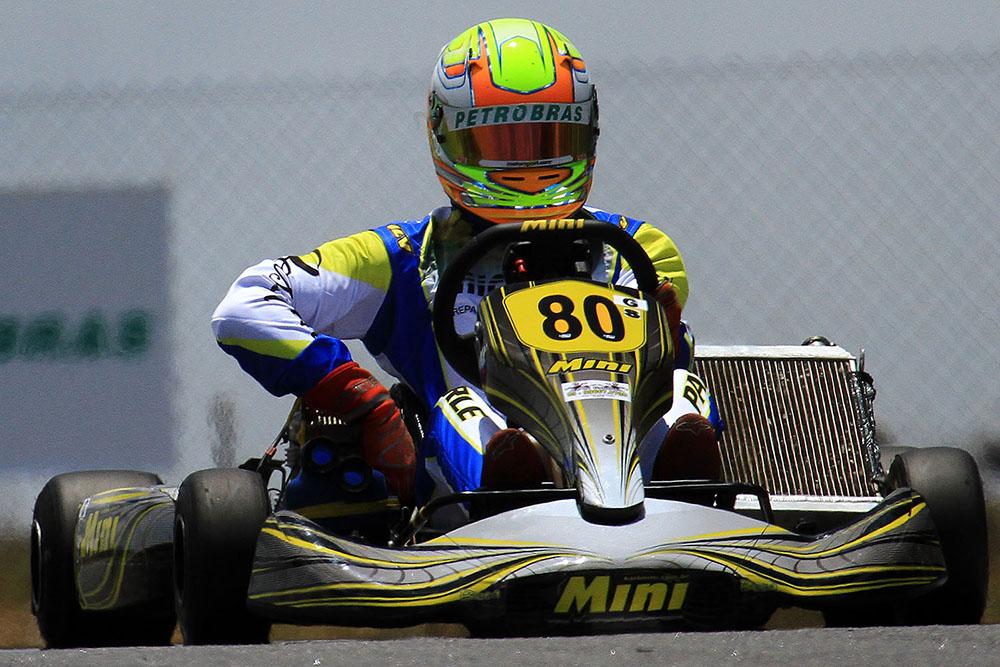 Gabriel Paturle garantiu o vice na Copa Brasil de Kart